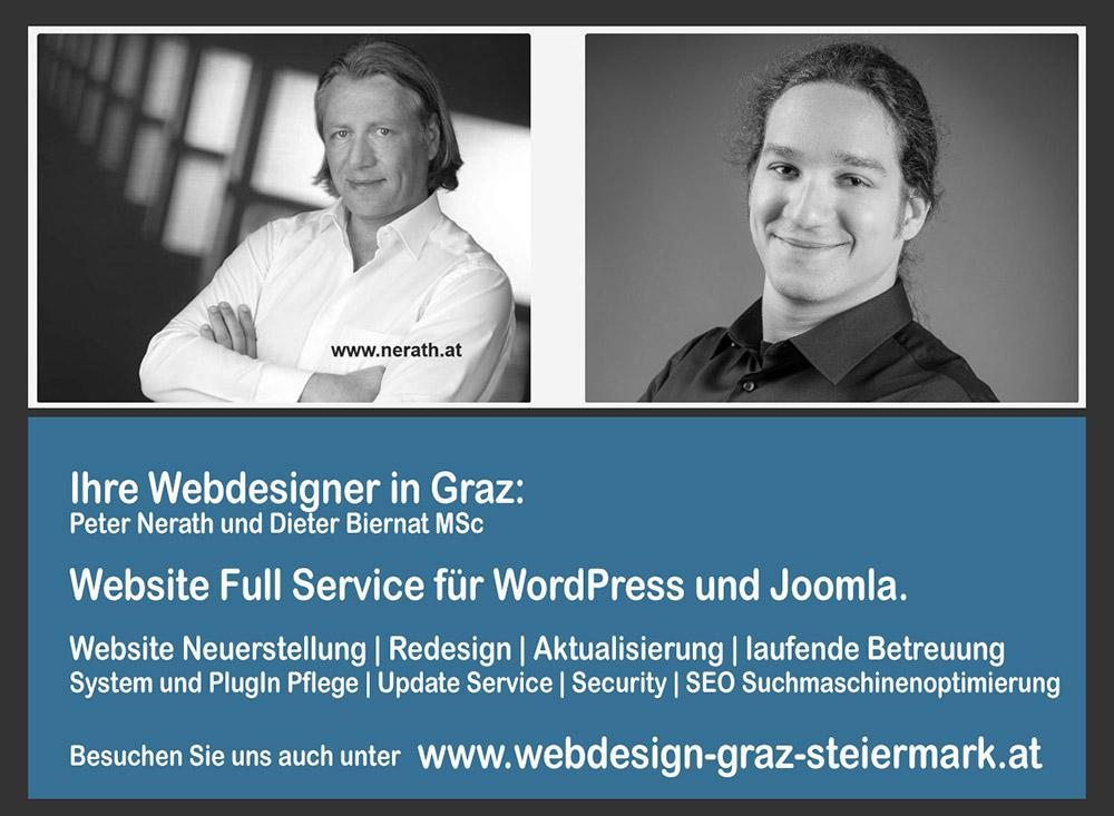 Webdesign Graz, Ihre Webdesigner und Partner für Webdesign in Graz. Unser Kooperationsteam für Webdesign in Graz bietet Ihnen das komplette Webdesign Service für Joomla und WordPress Websites.